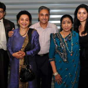 Radhey family photo with Asha Bhosle and Amit Kumar Updated